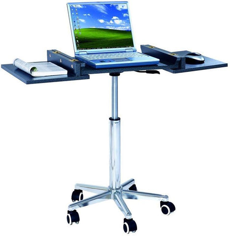 Techni Mobili RTA-B006-GPH06 Folding Table Laptop Cart. Color: Graphite - Peazz.com - 1