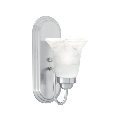 Thomas Lighting SL758178 Homestead Collection Brushed Nickel Finish Transitional Wall Sconce