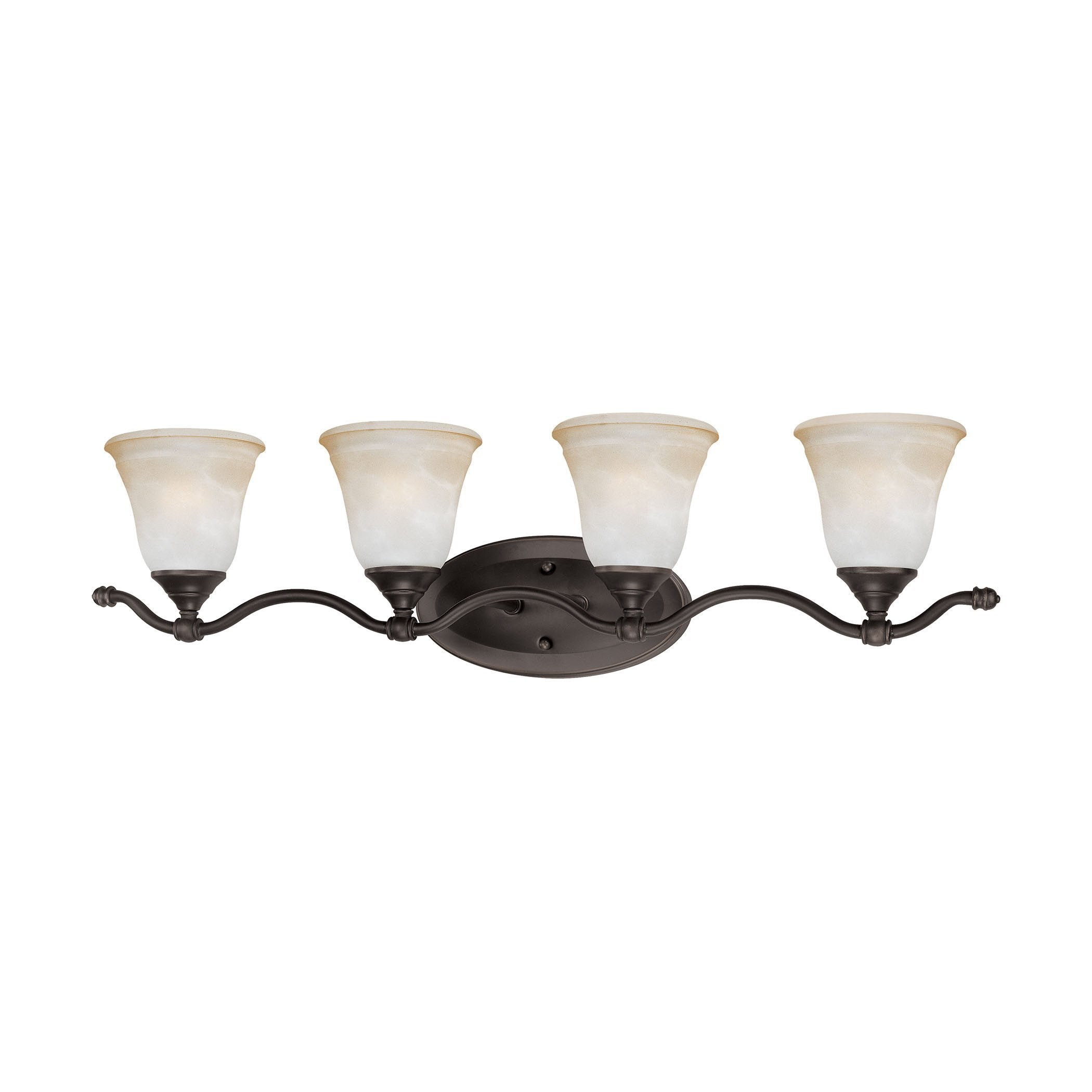 Thomas Lighting SL760462 Harmony Collection Aged Bronze Finish Traditional Wall Sconce