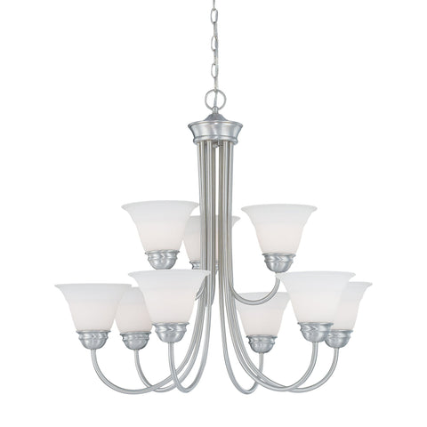 Thomas Lighting SL805278 Bella Collection Brushed Nickel Finish Traditional Chandelier