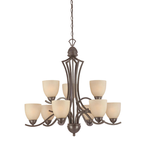 Thomas Lighting SL808322 Triton Collection Sable Bronze Finish Traditional Chandelier
