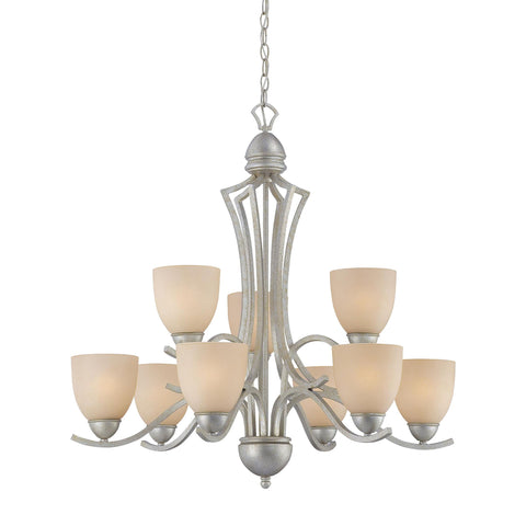 Thomas Lighting SL808372 Triton Collection Moonlight Silver Finish Traditional Chandelier