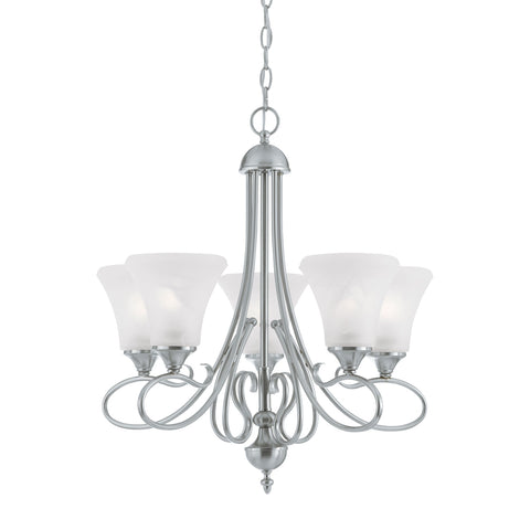 Thomas Lighting SL811578 Elipse Collection Brushed Nickel Finish Transitional Chandelier