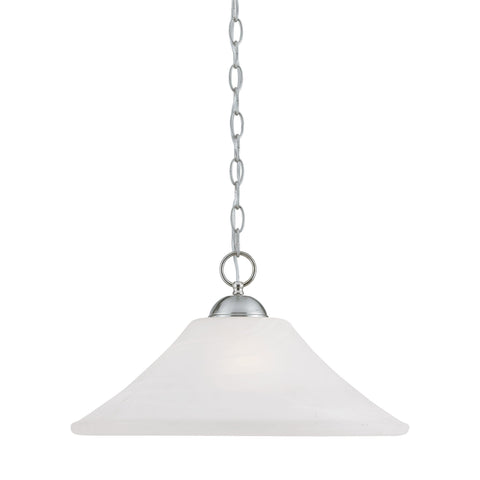 Thomas Lighting SL820078 Elipse Collection Brushed Nickel Finish Transitional Pendant