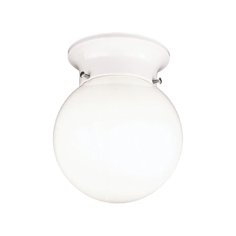 Thomas Lighting SL84368 Essentials Collection Matte White Finish Transitional Flush