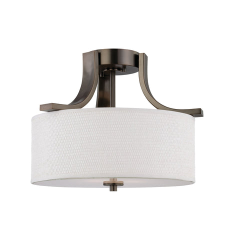 Thomas Lighting SL860915 Pendenza Collection Oiled Bronze Finish Transitional Flush