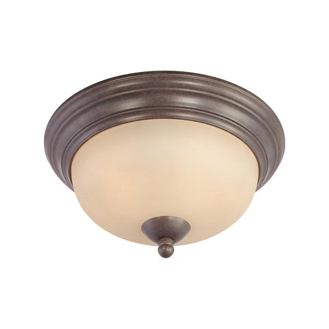 Thomas Lighting SL861522 Triton Collection Sable Bronze Finish Traditional Flush