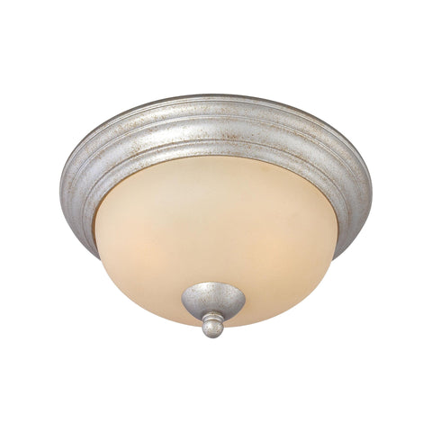 Thomas Lighting SL861572 Triton Collection Moonlight Silver Finish Traditional Flush
