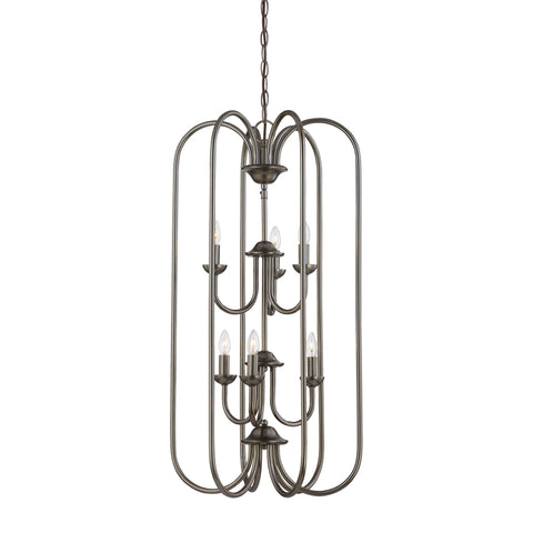 Thomas Lighting SL891815 Bella Collection Oiled Bronze Finish Traditional Chandelier
