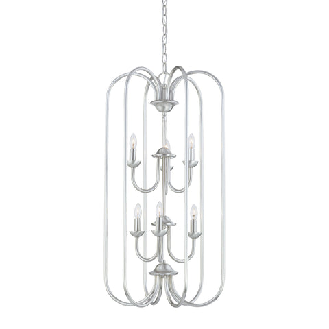Thomas Lighting SL891878 Bella Collection Brushed Nickel Finish Traditional Chandelier