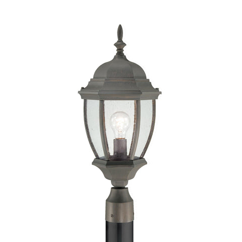 Thomas Lighting SL901063 Covington Collection Painted Bronze Finish Traditional Outdoor Post