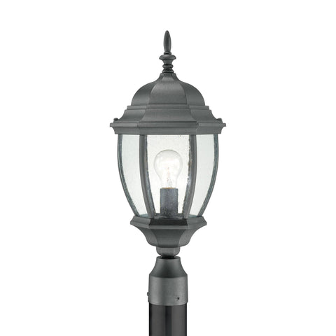 Thomas Lighting SL90107 Covington Collection Black Finish Traditional Outdoor Post