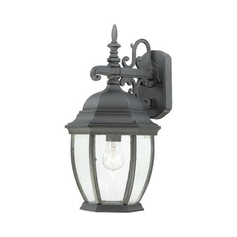 Thomas Lighting SL92297 Covington Collection Black Finish Traditional Wall Sconce
