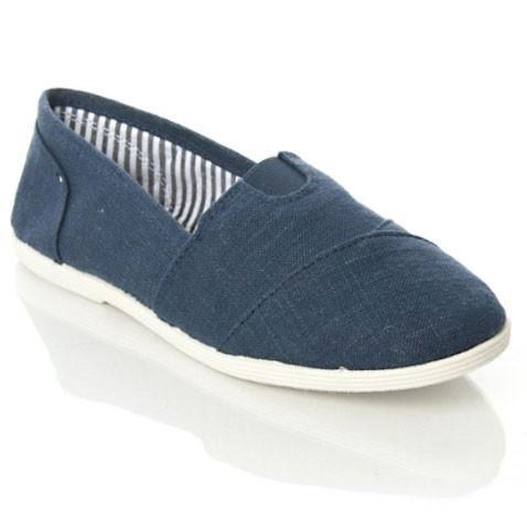 OBJECT Mock Tom's Slip On Canvas Linen Flats - Peazz.com