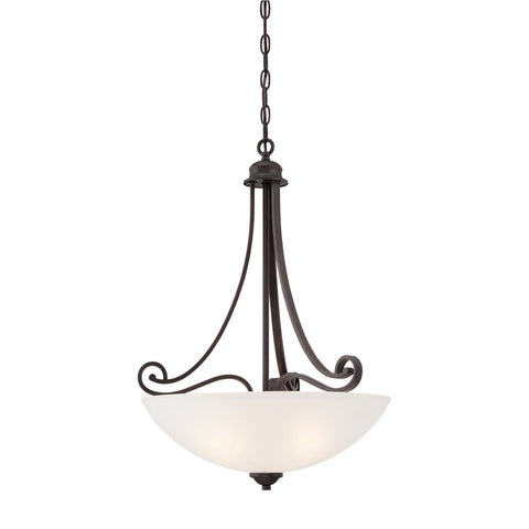 Thomas Lighting TC0016704 Haven Collection Espresso Finish Traditional Pendant