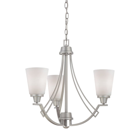 Thomas Lighting TK0010117 Wright Collection Matte Nickel Finish Traditional Chandelier