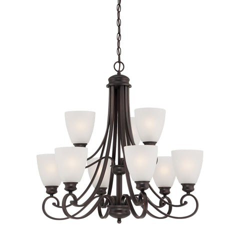 Thomas Lighting TK0018704 Haven Collection Espresso Finish Traditional Chandelier