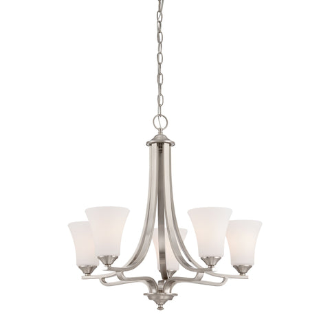 Thomas Lighting TK0020217 Treme Collection Brushed Nickel Finish Traditional Chandelier
