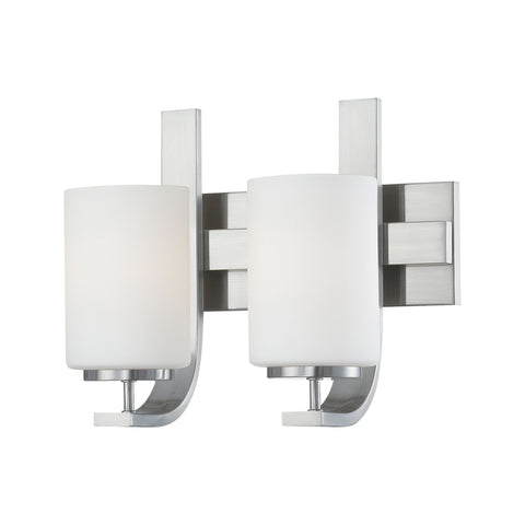 Thomas Lighting TV0007217 Pendenza Collection Brushed Nickel Finish Transitional Wall Sconce