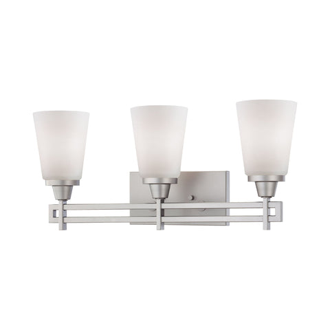 Thomas Lighting TV0009117 Wright Collection Matte Nickel Finish Traditional Wall Sconce