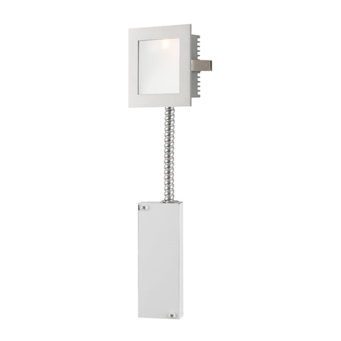 Alico WLE-101-RM Steplight LED Collection Opal,Grey Finish Steplight