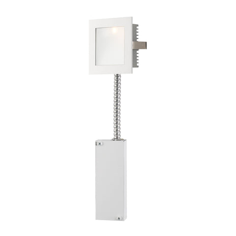Alico WLE-101W-RM Steplight LED Collection Opal,White Finish Steplight