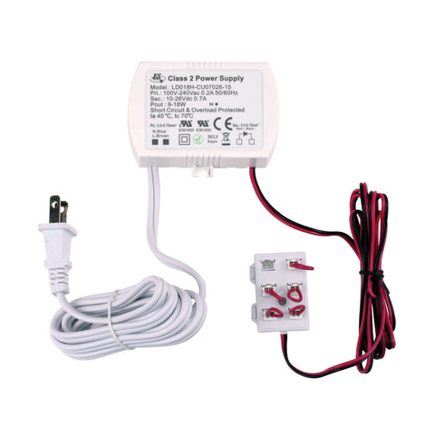Alico WLE-D8H-7CP 18 Watt 700mA Driver With Cord And Plug And 6 Port Harness
