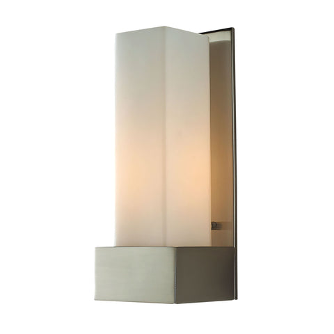 Alico WS121-10-16M Solo Tall Collection Satin Nickel Finish Wall Sconce