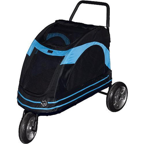 Pet Gear Roadster Pet Strollers - Black/Blue (PG8600BOB) - Peazz.com - 1