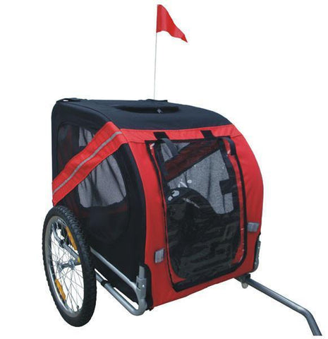 MDOG2 Comfy MK0062A Pet Bike Trailer - Red/Black - Peazz.com