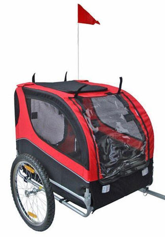MDOG2 Comfy MK0065A Pet Bike Trailer - Red/Black - Peazz.com