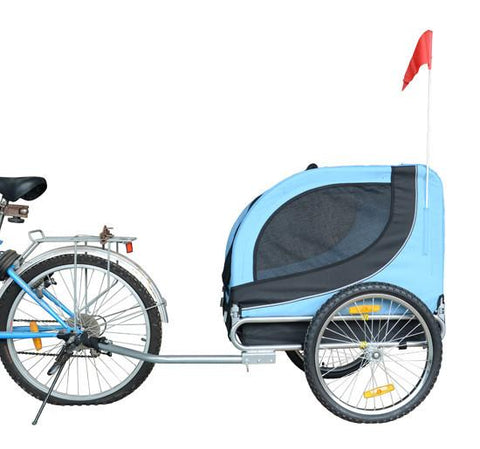 MDOG2 MK0001-BLU Comfy MK0001 Pet Bike Trailer - Blue/Black - Peazz.com