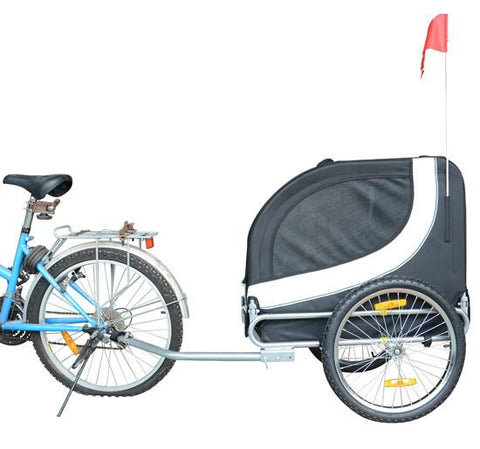 MDOG2 MK0001-WHT Comfy MK0001 Pet Bike Trailer - White/Black - Peazz.com
