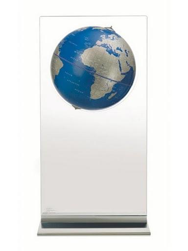 Zoffoli Globes USA art924-03 16 Inch Aria Floor Globe with Metallic Blue Ocean Globe