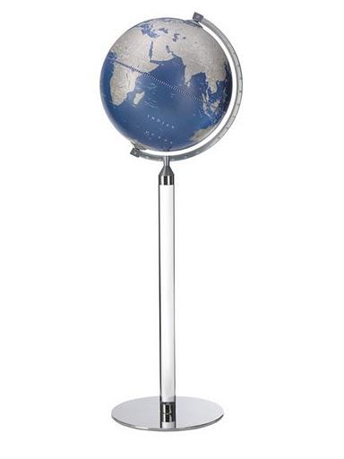 Zoffoli Globes USA art911-03 16 Inch Era Globe with Metallic Blue Ocean Globe