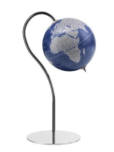 Zoffoli Globes USA art910-03 16 Inch Punto Globe with Metallic Blue Ocean Globe