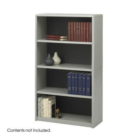 Safco 7172GR 4-Shelf ValueMate® Economy Bookcase - Peazz Furniture