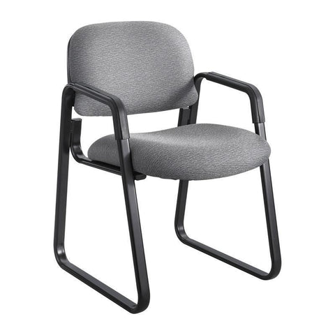 Safco 7047GR Cava® Urth™ Sled Base Guest Chair - Peazz Furniture