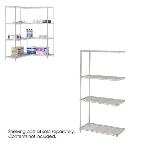 "Safco 5286GR Industrial Add-On Unit, 36 x 18"" - Peazz Furniture"