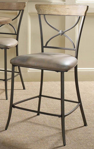 Hillsdale 4670-822 Charleston X-Back Non-Swivel Stool - Set of 2 - Peazz Furniture