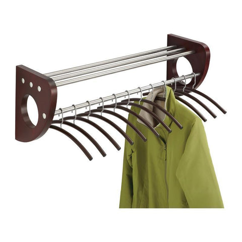 "Safco 4212MH Mode™ 36"" Wood Wall Coat Rack With Hangers - Peazz Furniture"