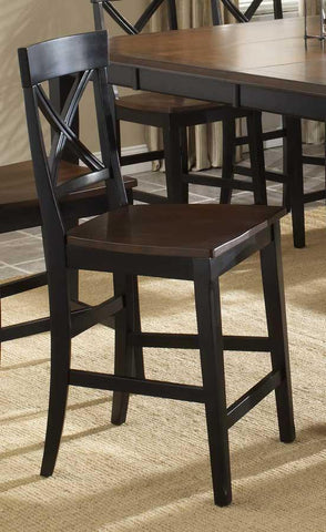 Hillsdale 4884-822 Englewood Counter Stool w/Solid Seat - Set of 2 - Peazz Furniture