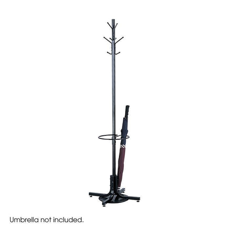 Safco 4168BL Costumer with Umbrella Stand - Peazz Furniture