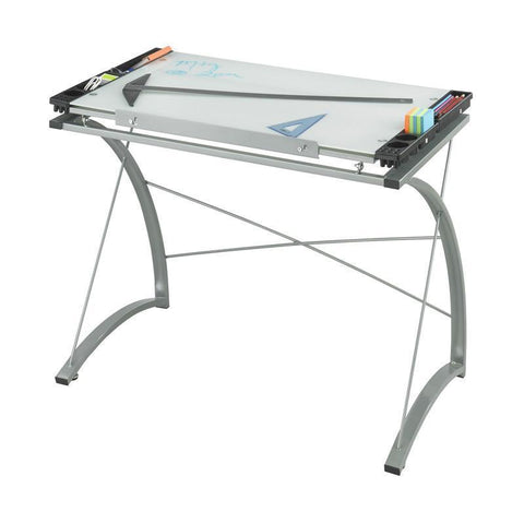Safco 3966TG Xpressions™ Glass Top Drafting Table - Peazz Furniture