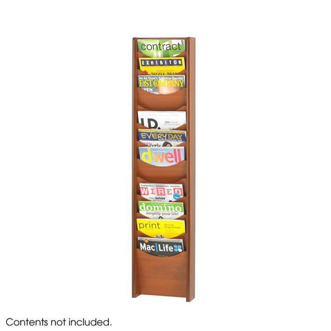 Safco 4331CY 12-Pocket Wood Magazine Rack - Peazz Furniture