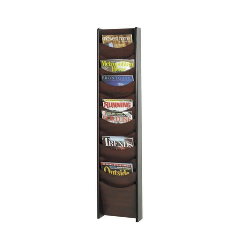 Safco 4331MH 12-Pocket Wood Magazine Rack - Peazz Furniture