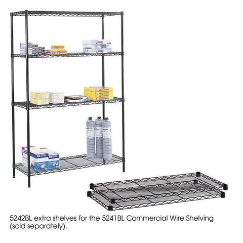 "Safco 5242BL Commercial Extra Shelf Pack, 48 x 18"" - Peazz Furniture"