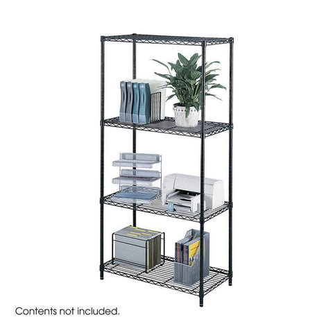 "Safco 5285BL Industrial Wire Shelving, 36 x 18"" - Peazz Furniture"
