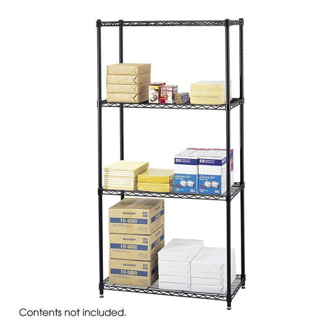"Safco 5276BL Commercial Wire Shelving, 36 x 18"" - Peazz Furniture"