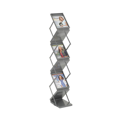 Safco 4132GR Ready-Set-Go! Double Sided Folding Literature Display - Peazz Furniture